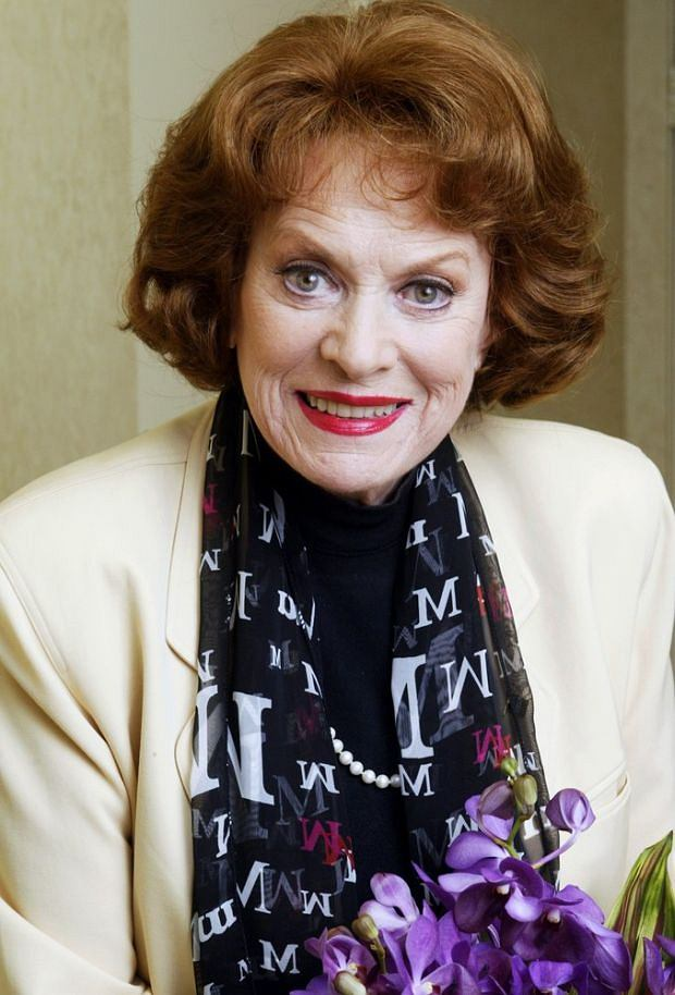 Legendary actress Maureen O'Hara poses for a photo March 9, 2004, at the Luxe Summit Hotel in the Bel Air Estates area of Los Angeles. With customary frankness, O'Hara, 83, recounts her life story in