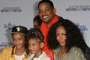 Will Smith z synem Jadenem, córką Willow i żoną Jadą