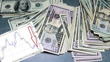 Kurs dolara jest najniższy od kilku miesięcy