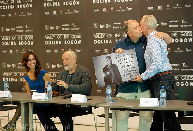 Berenice Marlohe , John Malkovich, Lech Majewski , Keir Dullea podczas konferencji prasowej dotyczącej filmu