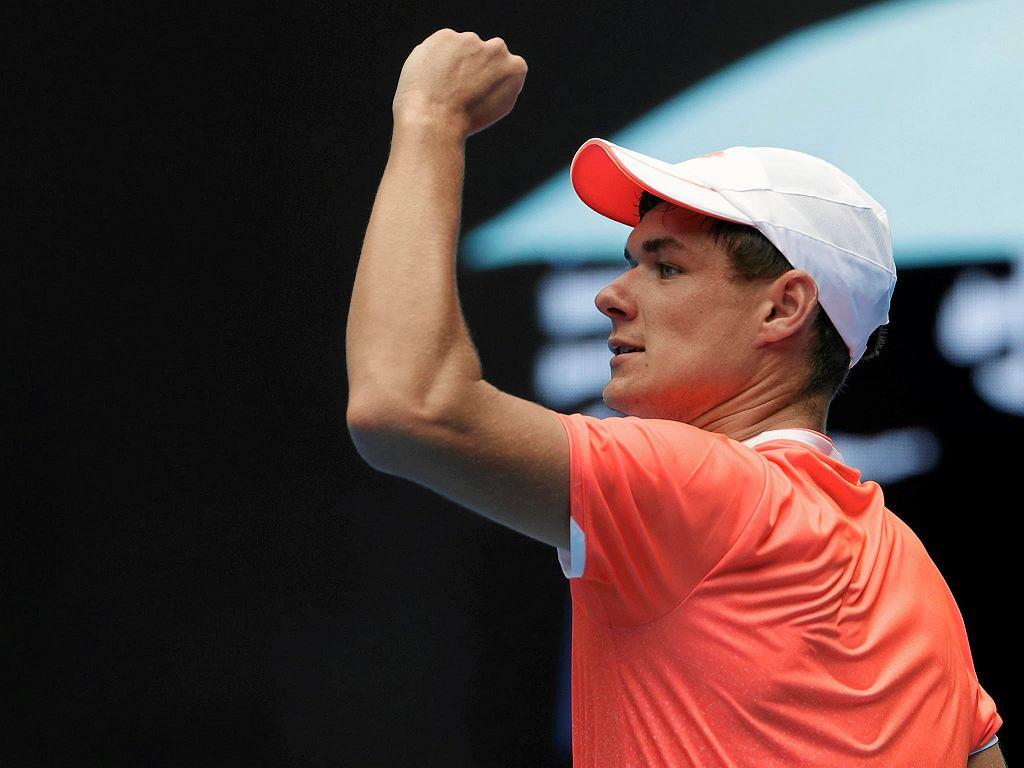 Kamil Majchrzak podczas Australian Open 2018