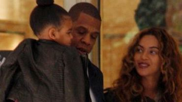 Blue Ivy, Jay Z i Beyonce
