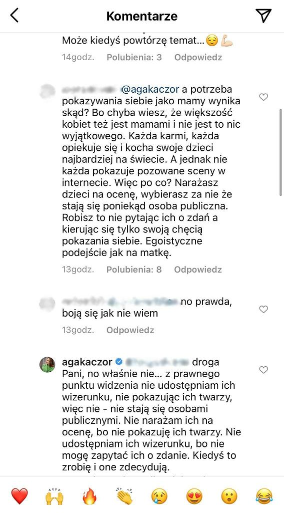Kaczorowska pozuje karmiąc piersią. Fanka pyta o prywatność dzieci: Egoistyczne podejście jak na matkę