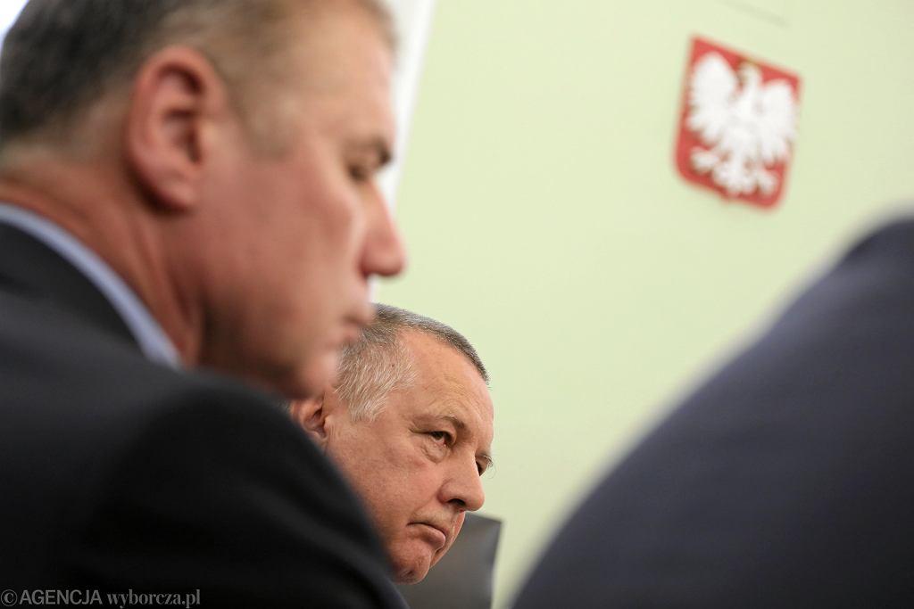 Prezes NIK Marian Banaś podczas posiedzenia sejmowej komisji kontroli państwowej, KPRM Warszawa 26.11.2019