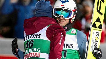 Kamil Stoch na skoczni w Engelbergu