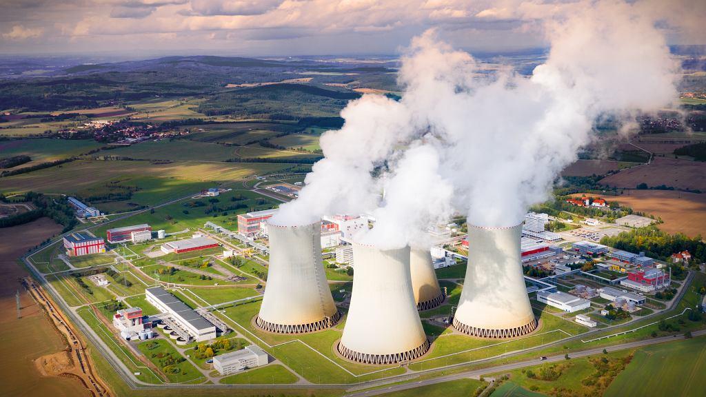 Elektrownia jądrowa w Temelinie, Czechy.