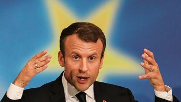 Emmanuel Macron na Sorbonie