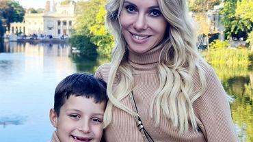 Małgorzata Opczowska z synem