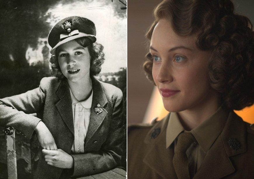 Księżniczka Elżbieta na archiwalnym zdjęciu i w filmie