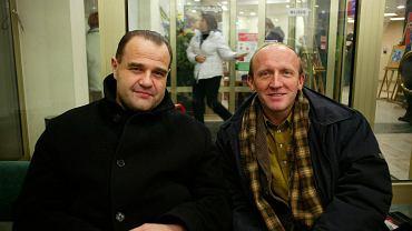 Z Cezarym Żakiem podczas finału WOŚP w 2004 roku. Razem zagrali w 'Miodowych latach' i 'Ranczu'