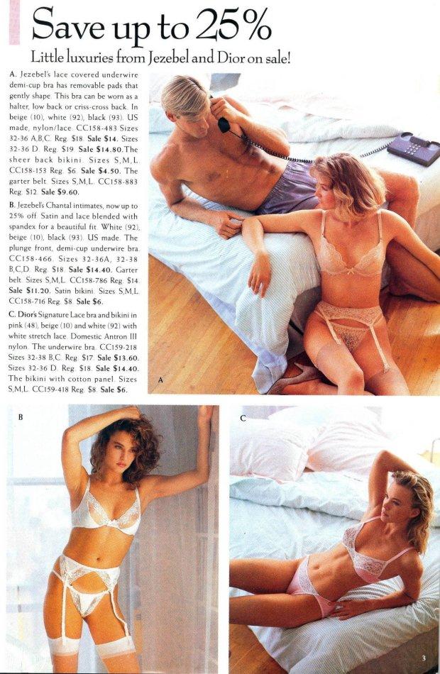 Katalog Victoria's Secret z połowy lat 80.