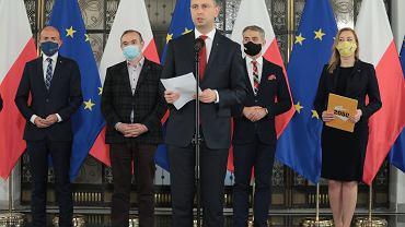 Wspólna konferencja przedstawicieli opozycji ws. komisji śledczej.