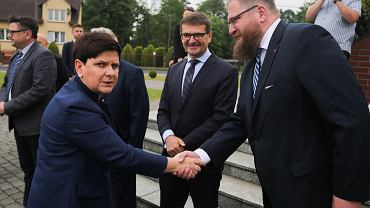 Wicepremier Beata Szydło, dyrektor Piotr Cywiński