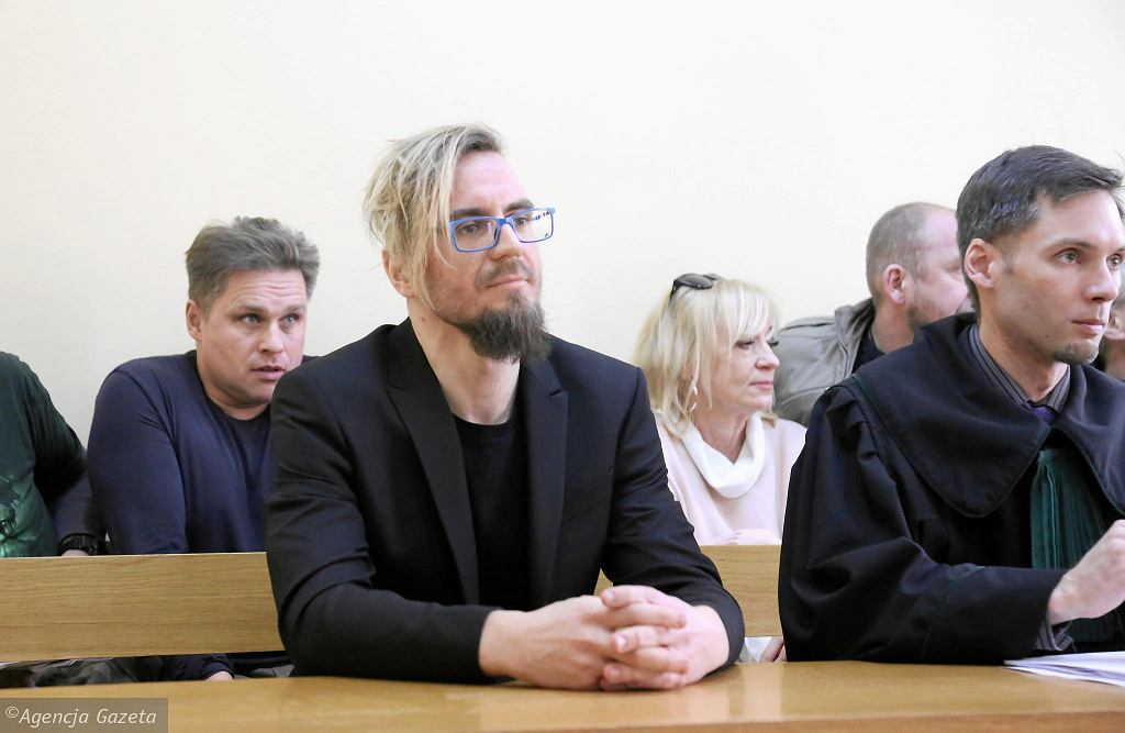 Paweł Jackowski , oskarżony o trzymanie transparentu obrażajacego prezydenta RP Andrzeja Dudę