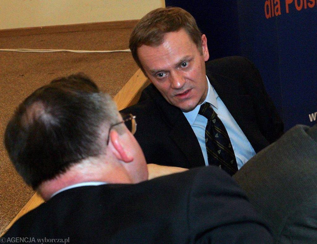 Jacek Saryusz-Wolski i Donald Tusk w 2004 r.