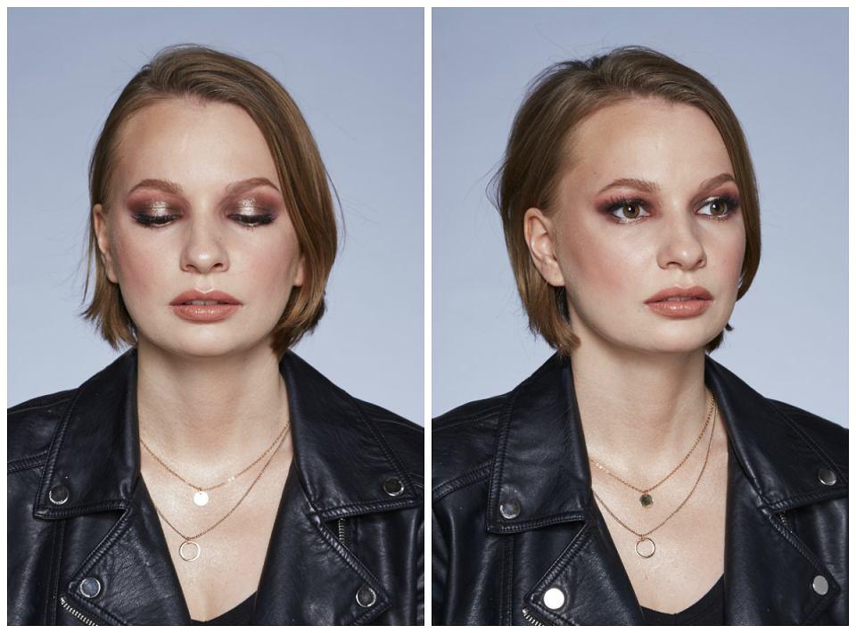 Spotlight to technika makijażu koncentrująca się na środkowej części powieki, na którą nakładamy błyszczący cień.