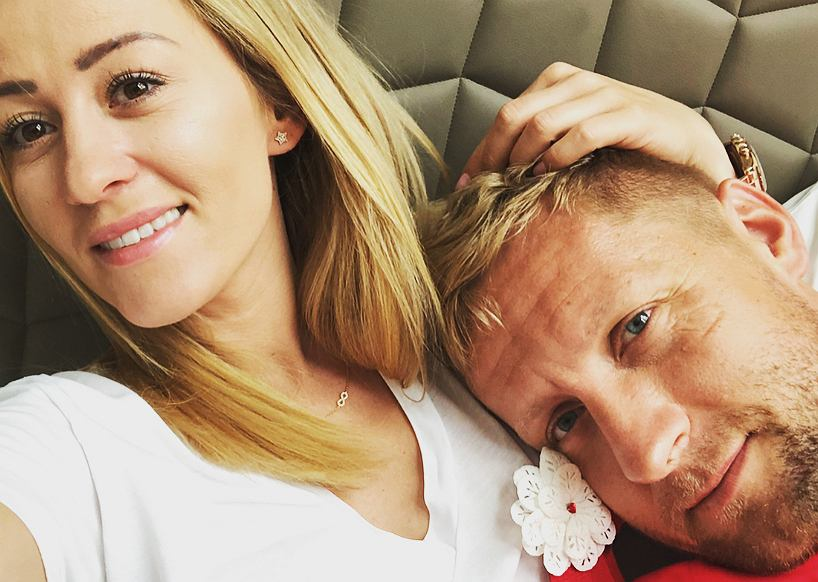 Kamil Glik z żoną Martą