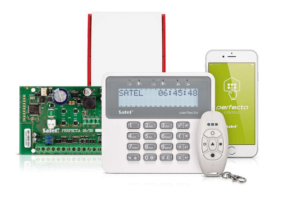 System sygnalizacji włamania i napadu PERFECTA, dwa rodzaje montażu - przewodowy i bezprzewodowy, na zamówienie, Satel