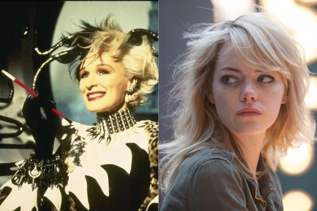 Glenn Close jako Cruella de Mon i Emma Stone