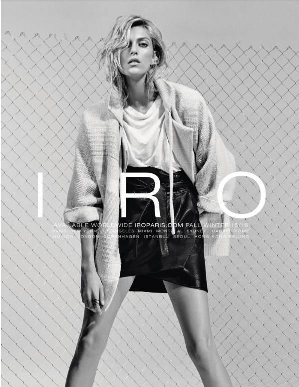 Anja Rubik w kampanii IRO Paris jesień-zima 2015