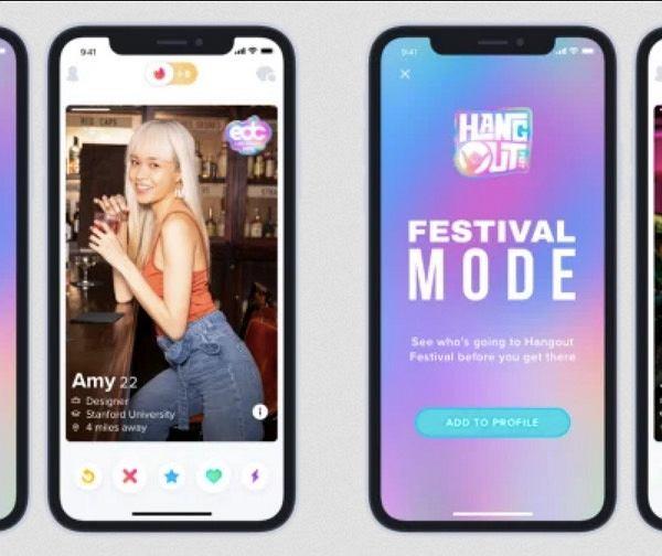 Tinder wprowadza tryb festiwalowy