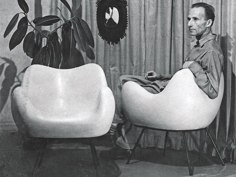 Roman Modzelewski: artysta wszechstronny i twórca kultowego fotela RM 58 z laminatu epoksydowego