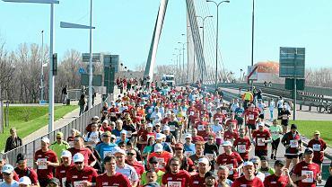 21 kwietnia 2013 roku. Uczestnicy Orlen Warsaw Marathon