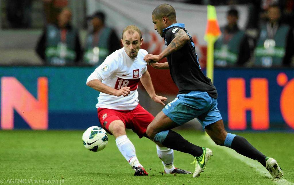 Adrian Mierzejewski podczas meczu Polska - Anglia