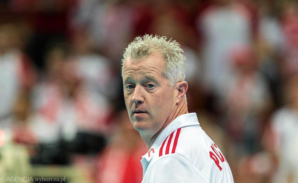 Vital Heynen podczas meczu w Lidze Narodów USA - Polska, czerwiec 2019 r.