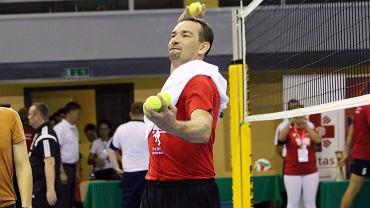 Sebastian Świderski podczas charytatywnego meczu w Gorzowie