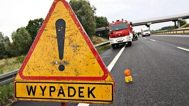 Wypadek na autostradzie A1 w Łodzi. Droga w kierunku Gdańska została zablokowana