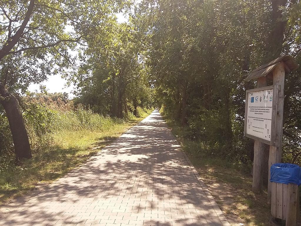 Przebieg trasy rowerowej w Miliczu