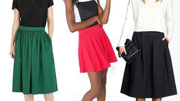 20 rozkloszowanych spódnic z nowych kolekcji