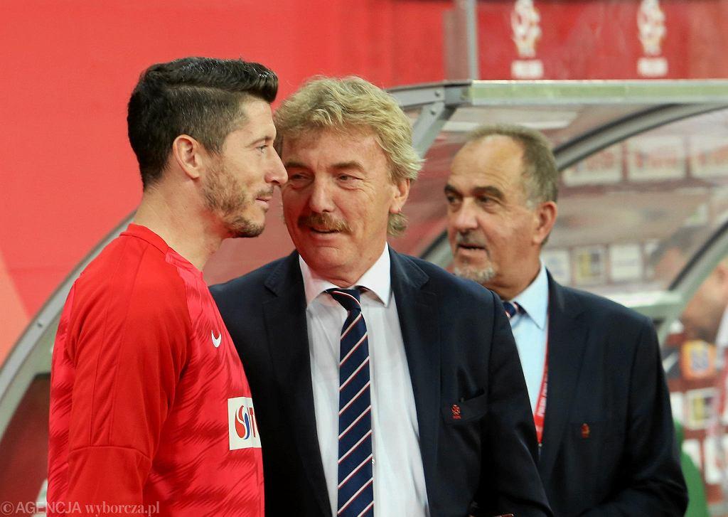 Robert Lewandowski i Zbigniew Boniek na Stadionie Wrocław