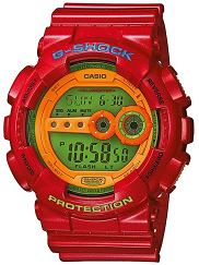 Casio prezentuje nowe zegarki G-Shock. Model GD-100HC-4ER. Cena 555 zł, Casio prezentuje nowe zegarki G-Shock, casio, moda męska, zegarki, survival