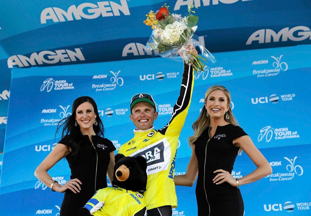 Rafał Majka po wygraniu etapu Tour of California