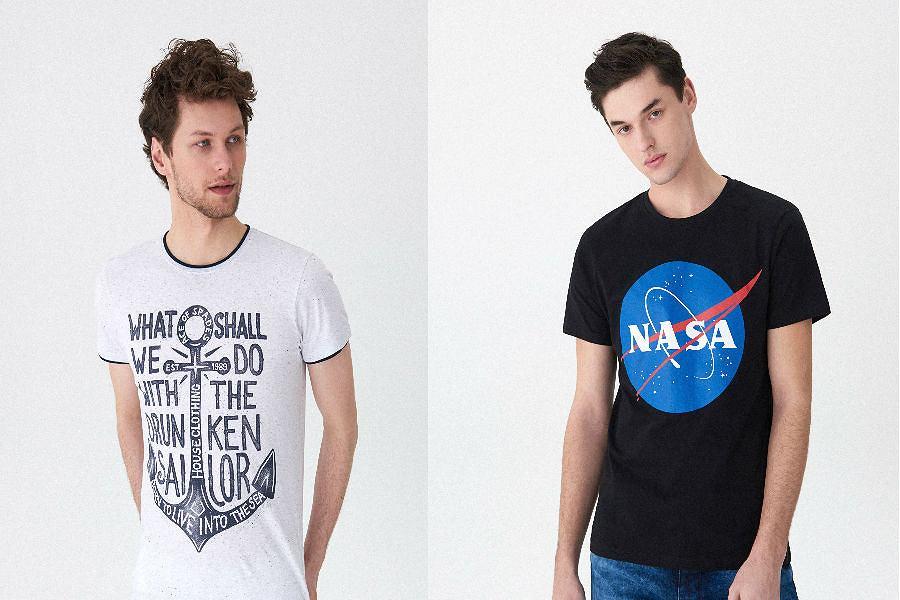 T - shirt męski z nadrukiem