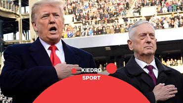 Donald Trump, James Mattis na meczu drużyn akademickich Army - Navy