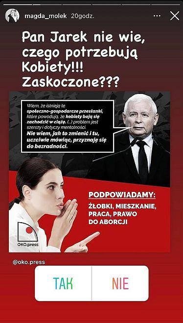 Magda Mołek odpowiada Jarosławowi Kaczyńskiemu