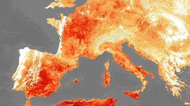 Temperatury w Europie 25 lipca