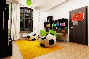 Stylowy pokój dla dwóch chłopców