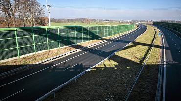 S14 w okolicach węzła Szynkiewicz Petrykozy .