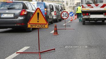 Jeden w wypadków na przejściu dla pieszych, Warszawa