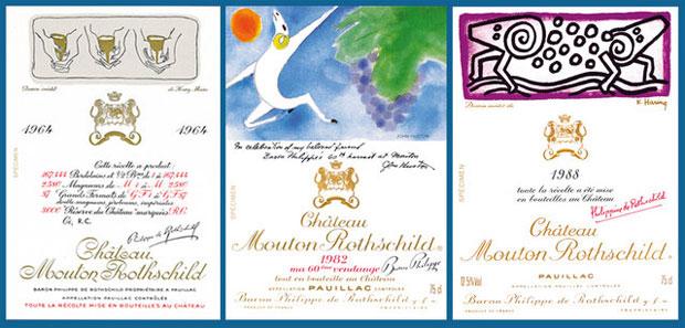 Poradnik: wszystko o etykietach win, alkohol, wino, białe wino, czerwone wino, Etykieta Château Mouton-Rothschild
