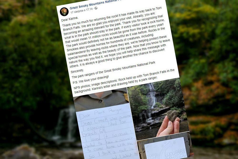 Turystka odesłała kamień, który zabrała z parku narodowego w USA