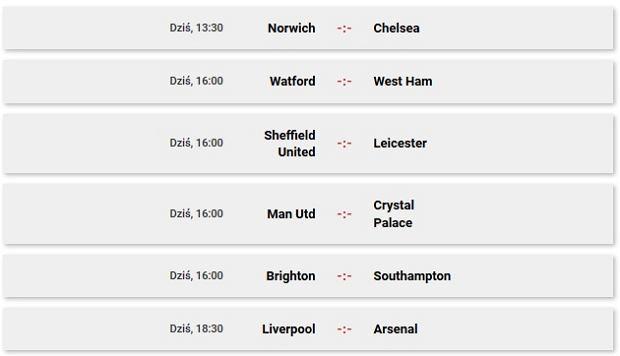 Premier League - sobota