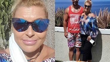Katarzyna Skrzynecka z rodziną na wakacjach