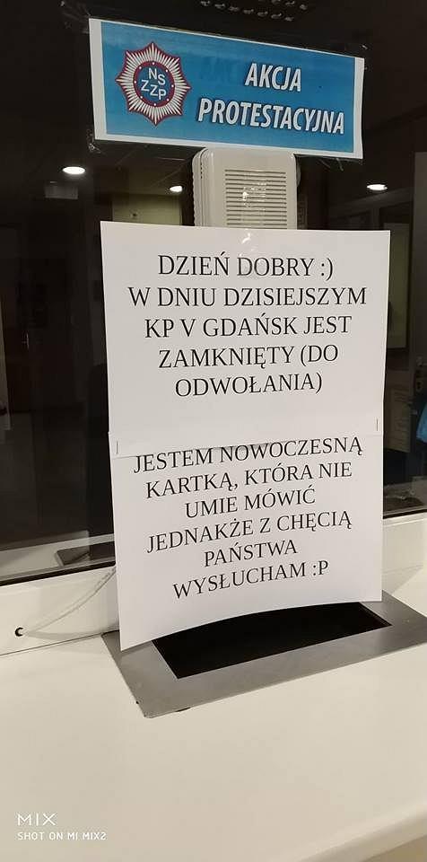 Akcja protestacyjna na KP V Gdańsk