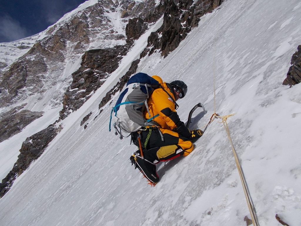 Rafał Fronia podczas wyprawy na K2 w 2018 roku