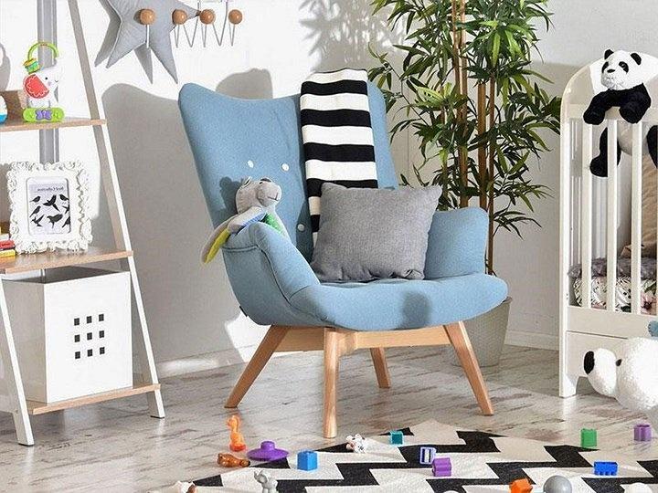 Fotel niebieski